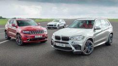 Performance SUV Drag Race: Jeep Grand Cherokee SRT vs Porsche Cayenne Turbo S vs BMW X5 M