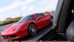 Ferrari 458 Challenges Turbo Supra on the Highway