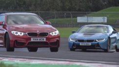 BMW i8 vs M4 Track Battle