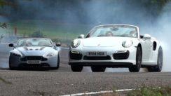 Drop Top Duel: Porsche 911 Turbo S vs Aston Martin V12 Vantage S
