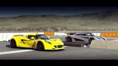 Koenigsegg ONE:1 vs Hennessey Venom GT Drag Race
