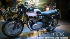 2016 Triumph Bonneville Line Revealed