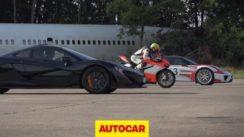 McLaren P1 vs Porsche 918 Spyder vs Ducati 1199 Superleggera