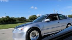 Turbo Civic Battles Modified Corvette ZR1