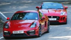 Jaguar F-Type Coupe vs Porsche Cayman GTS