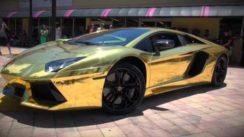 World's First Gold Plated Lamborghini Aventador
