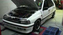 Daihatsu Charade GTti Turbo Dyno Run