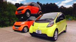 Double Decker Smart Car vs Mitsubishi i