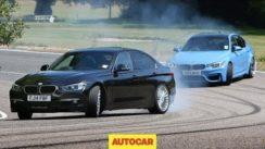 BMW M3 vs Diesel Alpina D3 in a Fast Saloon Showdown
