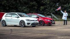 Honda Civic Type R vs VW Golf R Drag Race