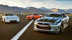 SEMA Drag Race: 240Z vs 370Z vs GTR vs Trophy Truck