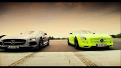 Gasoline vs Electric Mercedes SLS AMG Battle