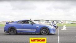 1200 Horsepower Nissan GT-R vs 205 Horsepower Kawasaki ZX-10R Drag Race