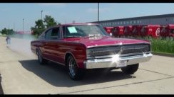 Test Drive and Burnout 1966 Dodge Charger
