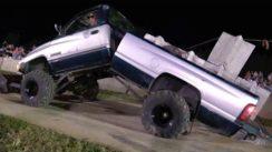 Dodge Ram Diesel Pull Truck Bends In Half