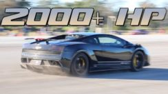 Insane 2000+hp X Version Lamborghini Goes 233 mph