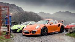 Lamborghini Aventador SV vs Porsche 911 GT3 RS vs McLaren 675LT