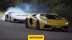 Lamborghini Aventador Snake Handling Challenge